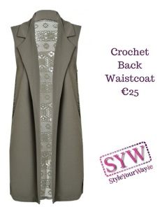 Crochet Back Waistcoat€25
