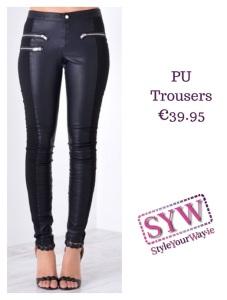 Pu trousers